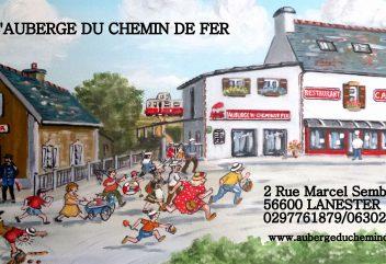 L'auberge du chemin de fer – Affiche / L'auberge, restaurant, café ©D.R.