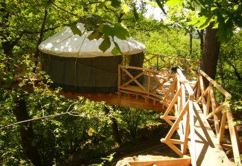 L'Éco Source Arboricole – Yourte ©D.R. – Nouvelle-Aquitaine / Creuse