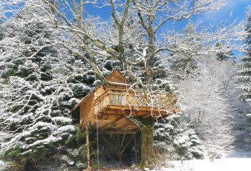 Les nids cosy des Vosges – Exterieur sous la neige ©D.R. – Grand Est / Vosges